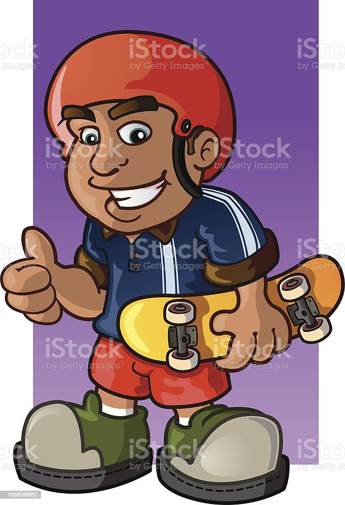 Skateboarder Giving a Thumbs Up royalty-free skateboarder giving a thumbs up stock vector art & more images of cartoon
