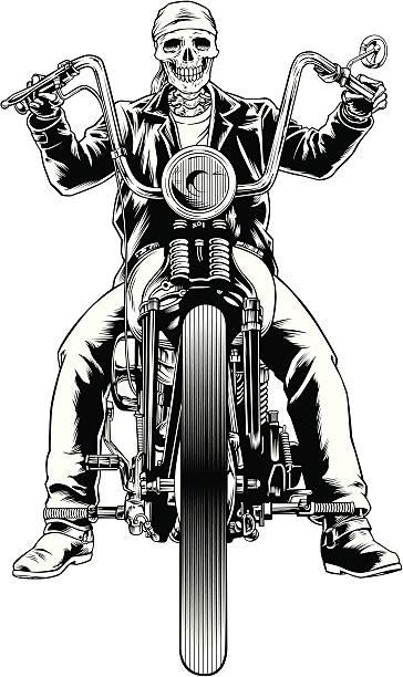 Skel Rider 3 vector art illustration