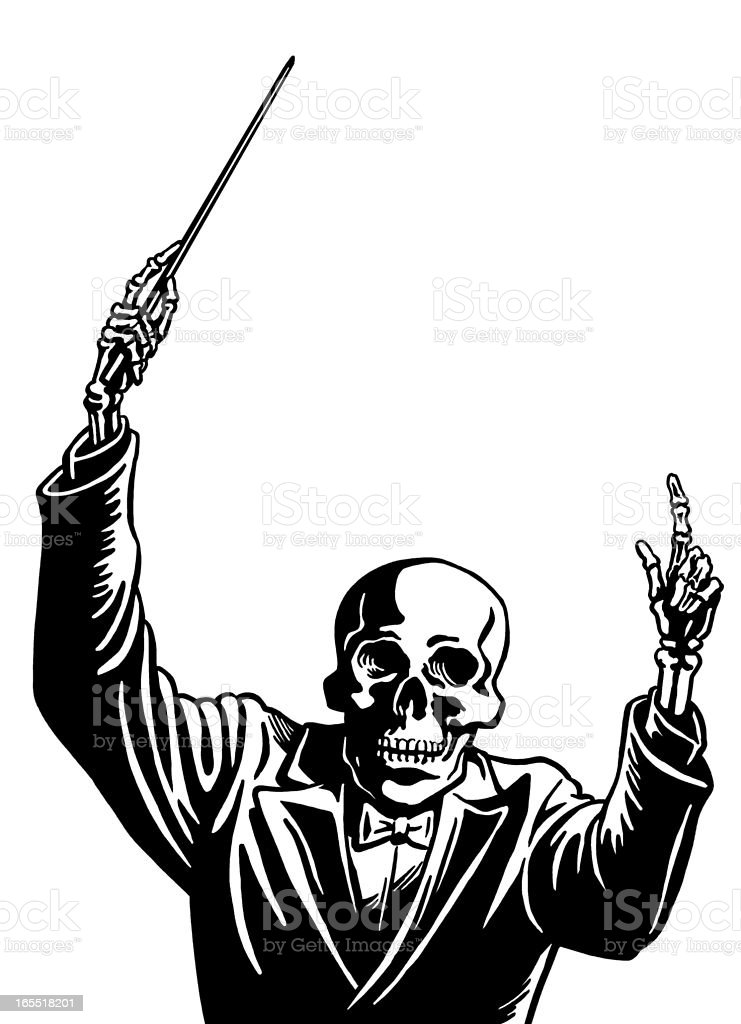 Skeleton Conductor royalty-free stock vector art