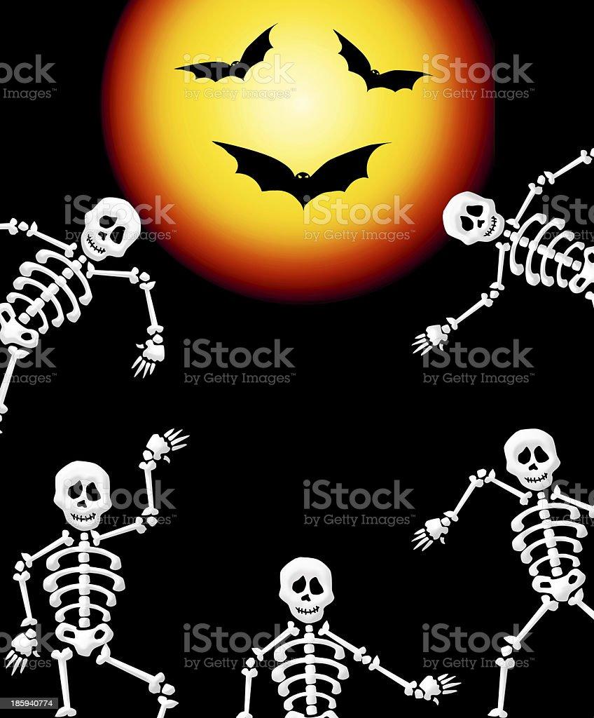 Skeletons of Halloween royalty-free skeletons of halloween stock vector art & more images of bat - animal