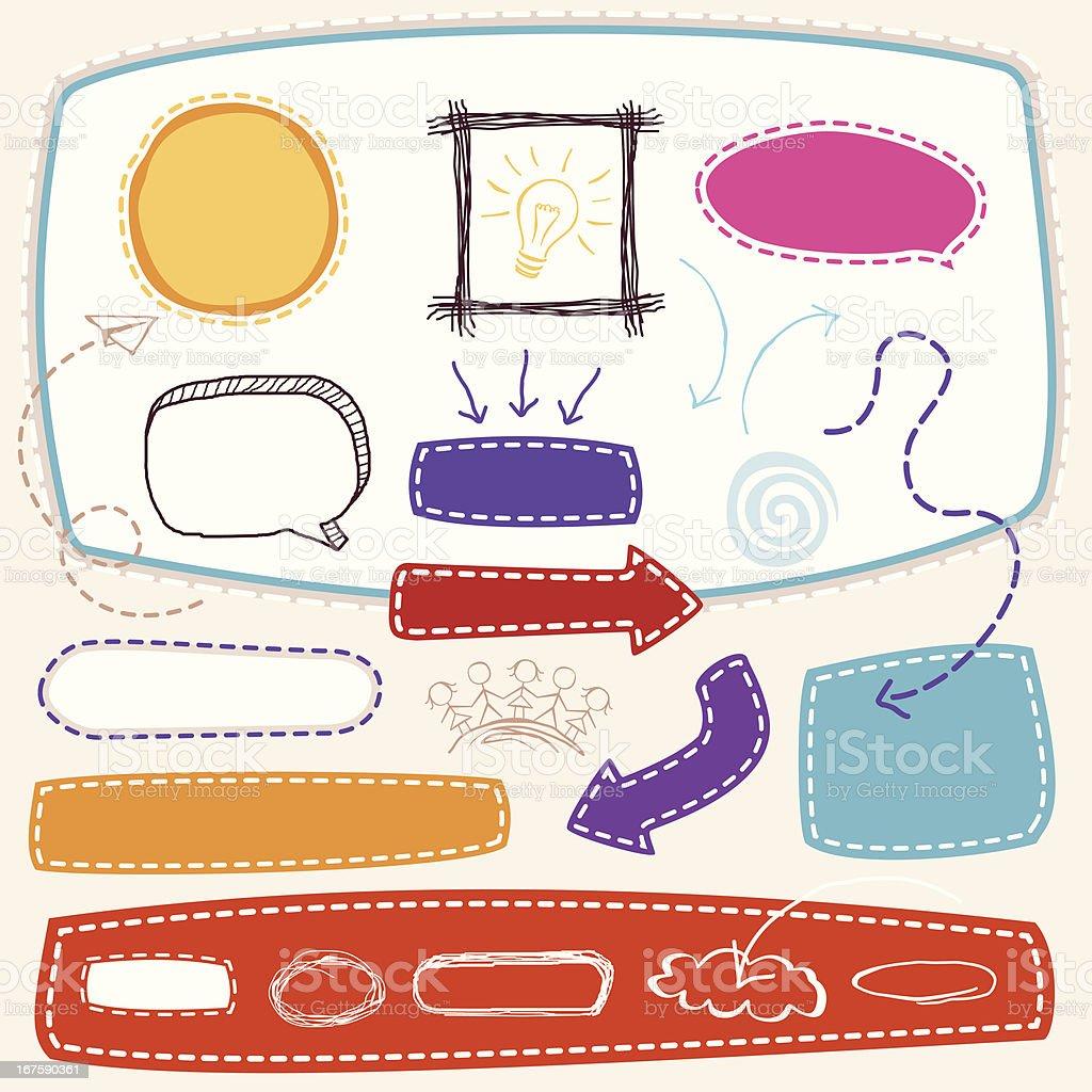 Boceto elemento de diseño - ilustración de arte vectorial