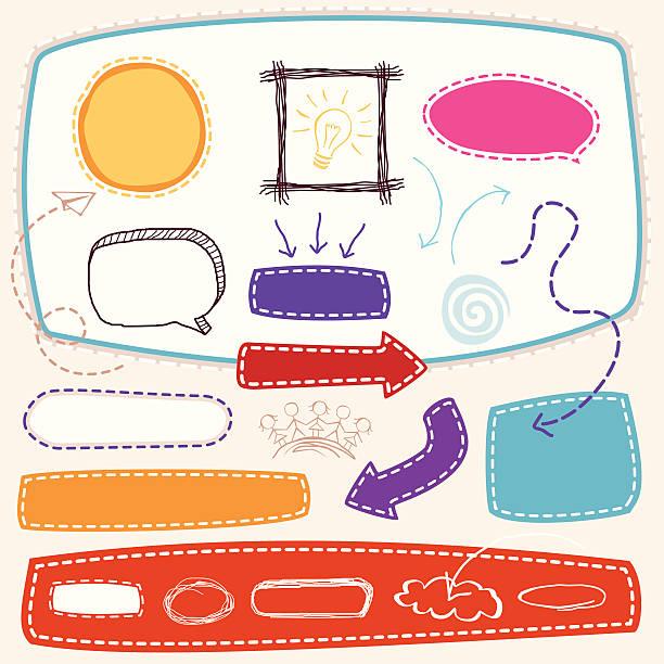 ilustraciones, imágenes clip art, dibujos animados e iconos de stock de boceto elemento de diseño - marcos de garabatos y dibujados a mano