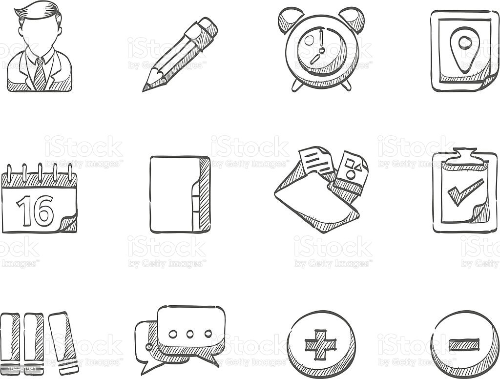 Sketch Icons - Group Collaboration vector art illustration