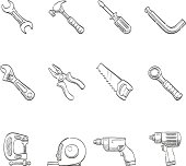 Sketch Icons - Hand Tools