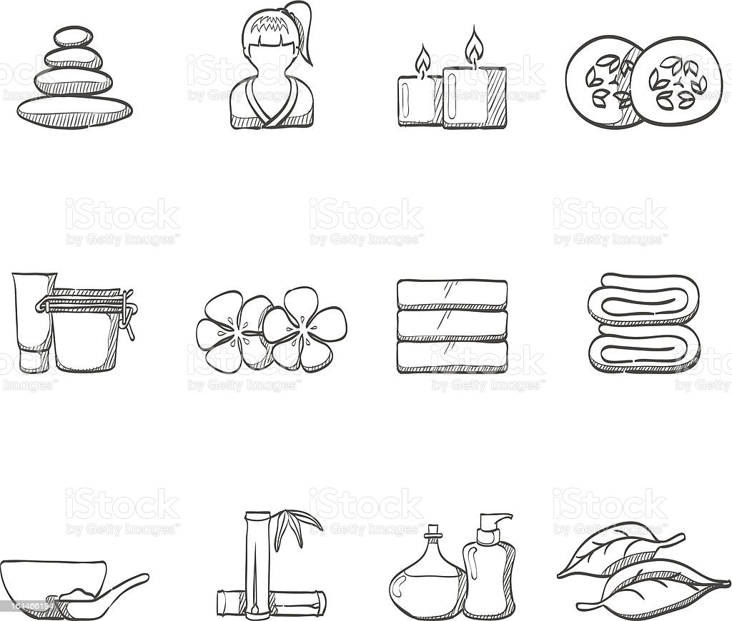 Sketch Icons - Spa royalty-free stock vector art