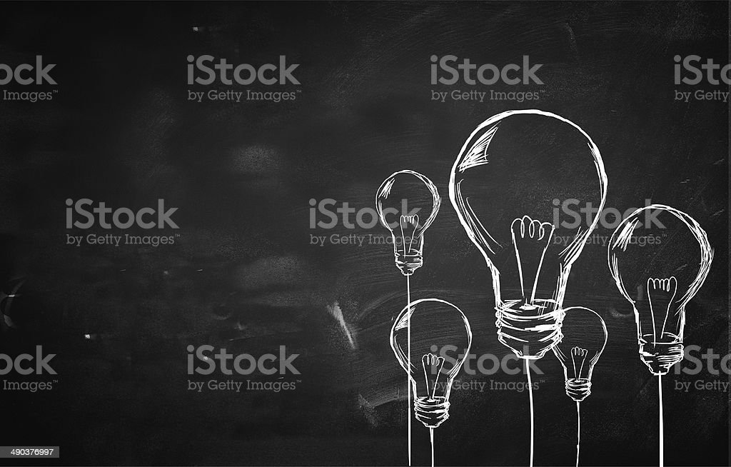 Sketch Many Bulbs background vector art illustration