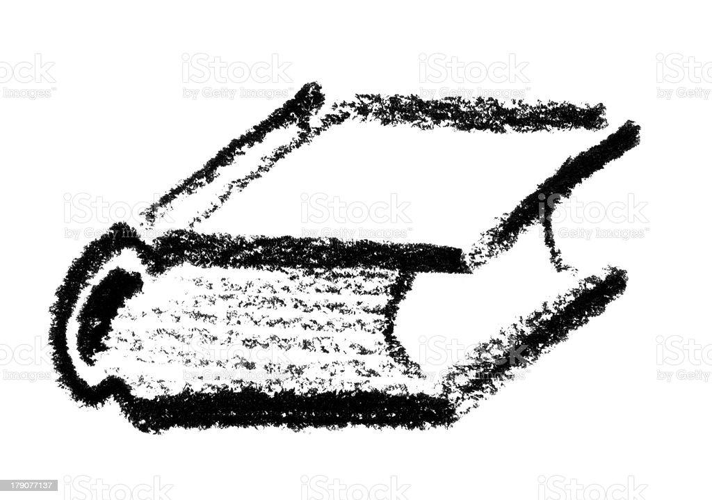 sketched book vector art illustration