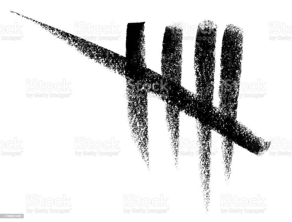 sketched count marks vector art illustration