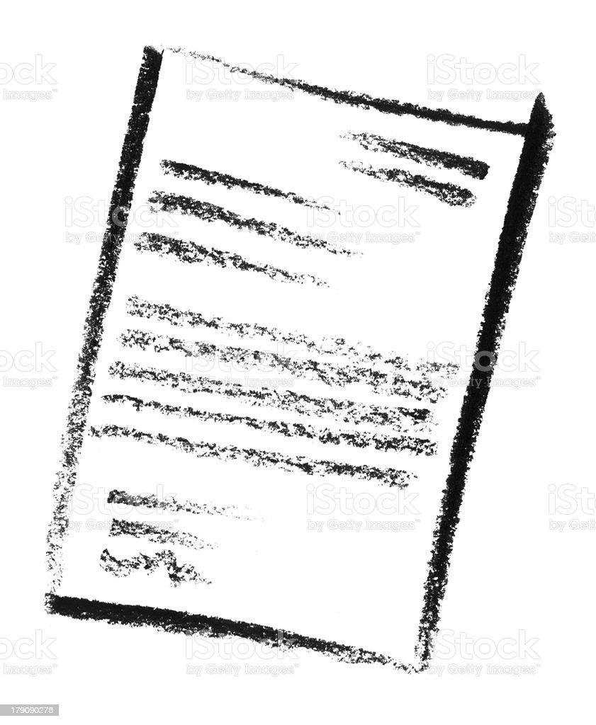 sketched document vector art illustration
