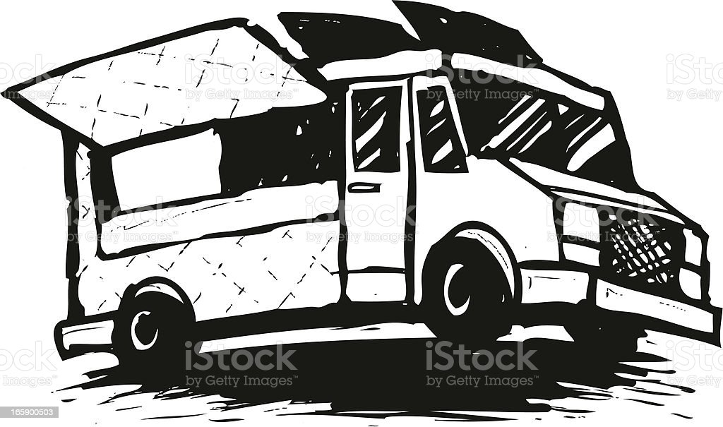 Sketched Food Truck Royalty Free Stock Vector Art Amp More Images
