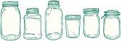 sketched jars