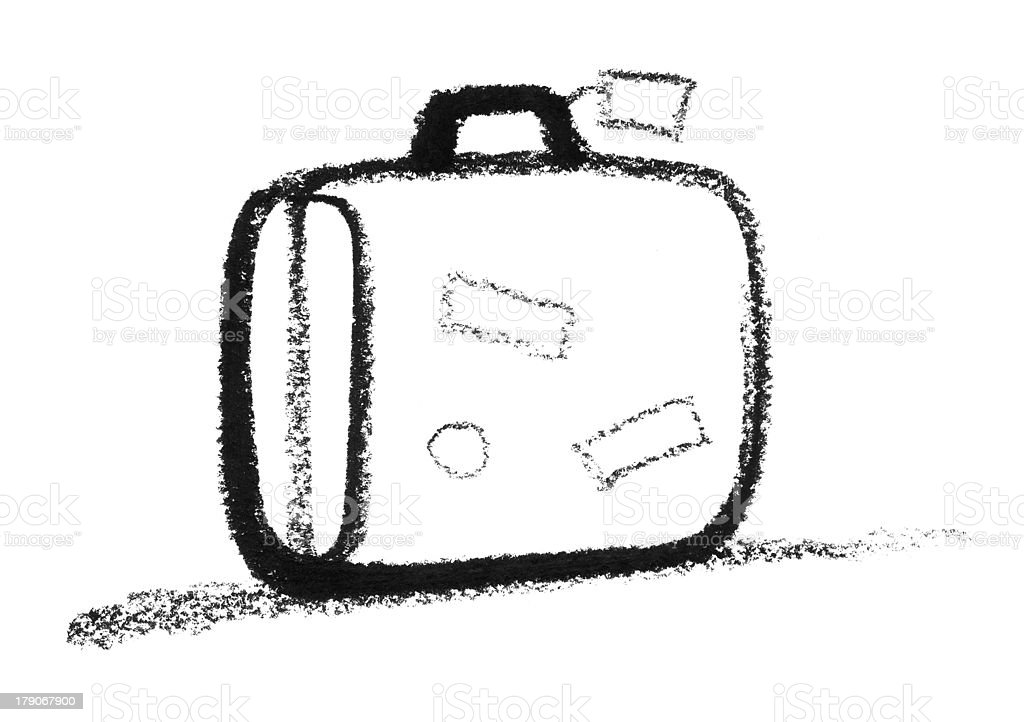 sketched suitcase vector art illustration