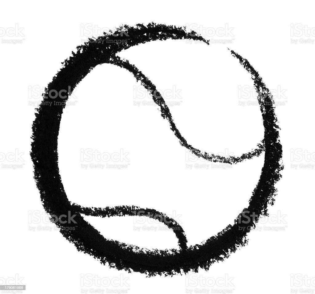 sketched tennis ball vector art illustration