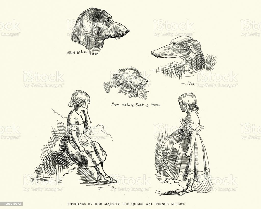 Image result for queen victoria sketches