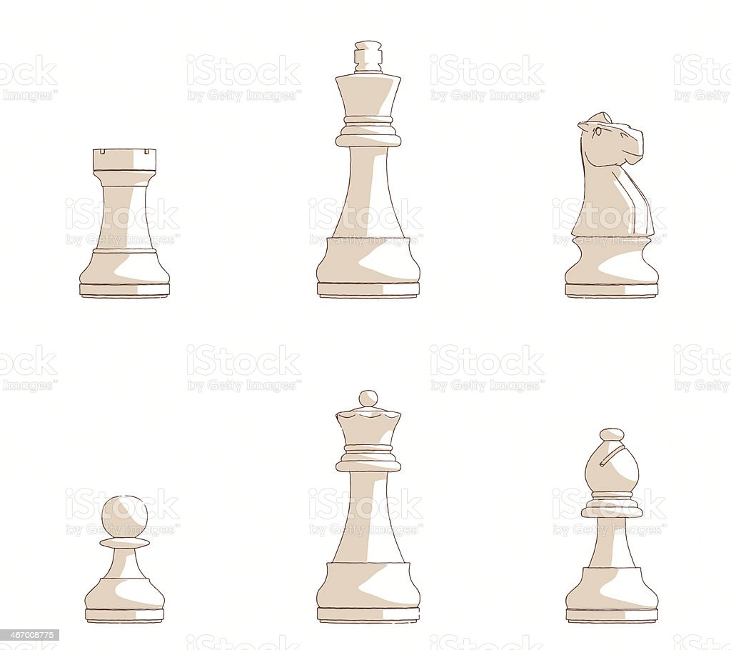 Sketches of Chess Pieces royalty-free sketches of chess pieces stock vector art & more images of beige