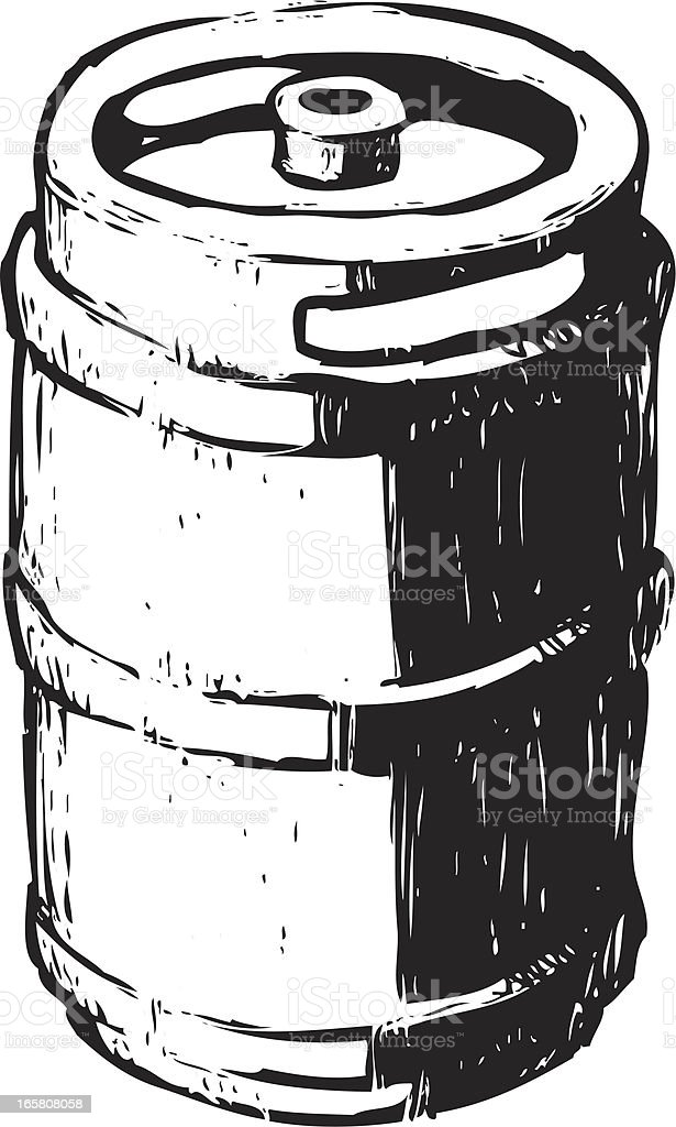 Skizzenhafte keg – Vektorgrafik