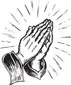 istock sketchy praying hands 165798860