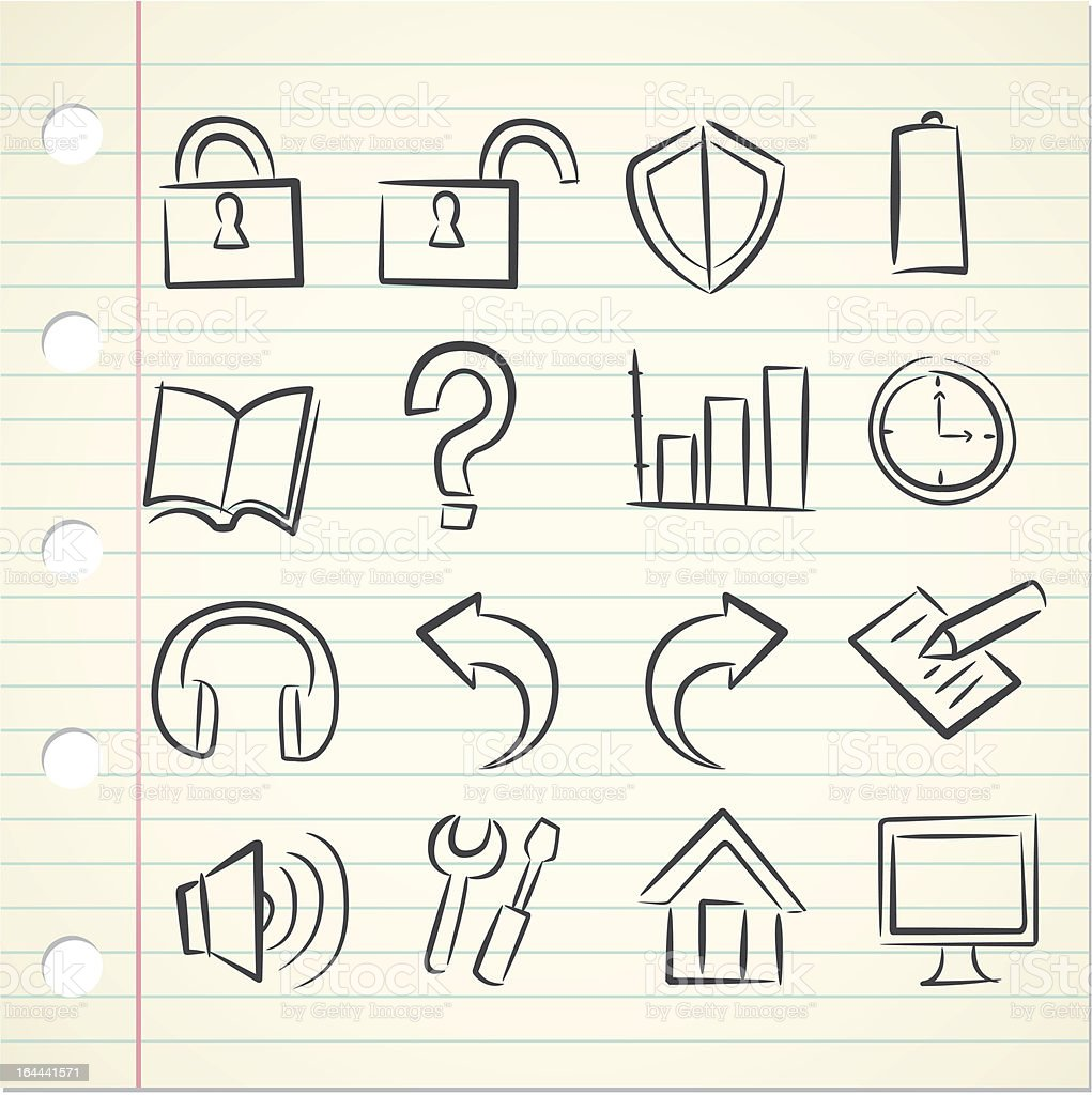 sketchy technology icon royalty-free sketchy technology icon stock vector art & more images of arrow symbol