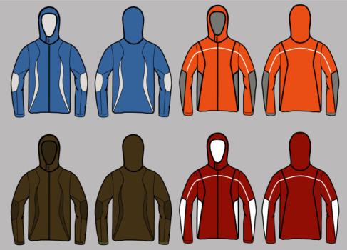 ski jackets vector