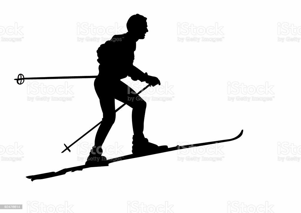 ski two royalty-free ski two stock vector art & more images of color image