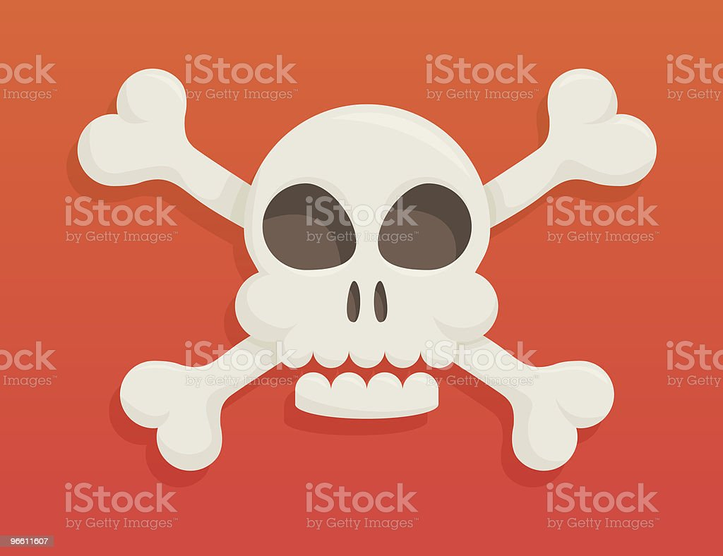 Skull and bones - Royalty-free Close-up vectorkunst