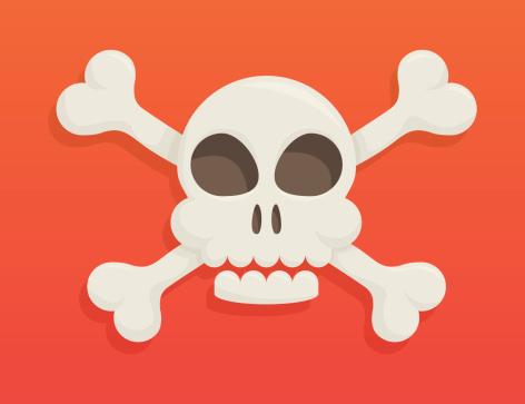 Crânio E Ossos - Arte vetorial de stock e mais imagens de Caveira - Símbolo de Advertência