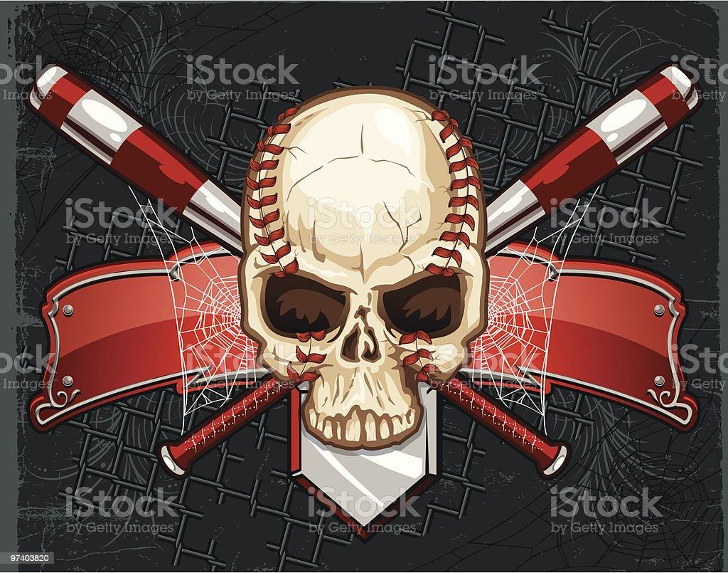 Skull and Cross Bats royalty-free stock vector art