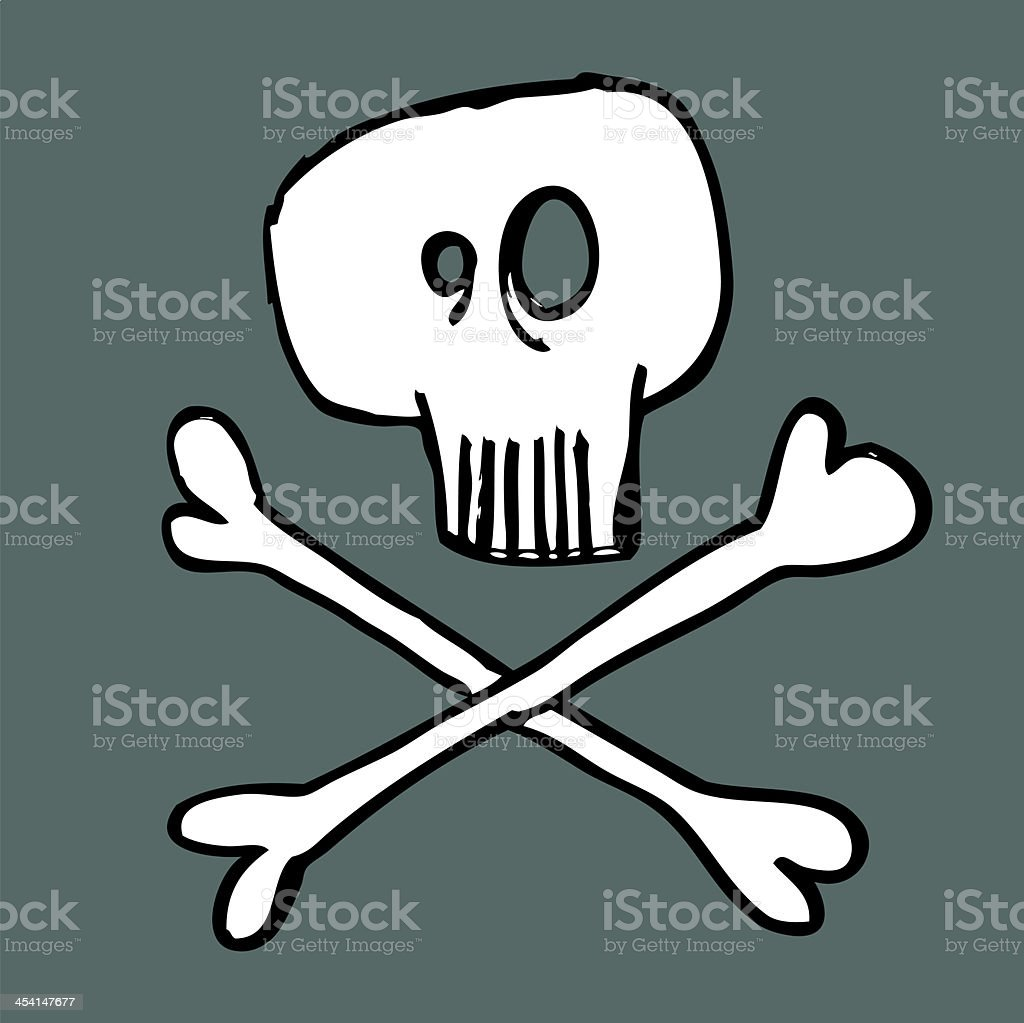 Skull and crossbones royalty-free skull and crossbones stock vector art & more images of doodle