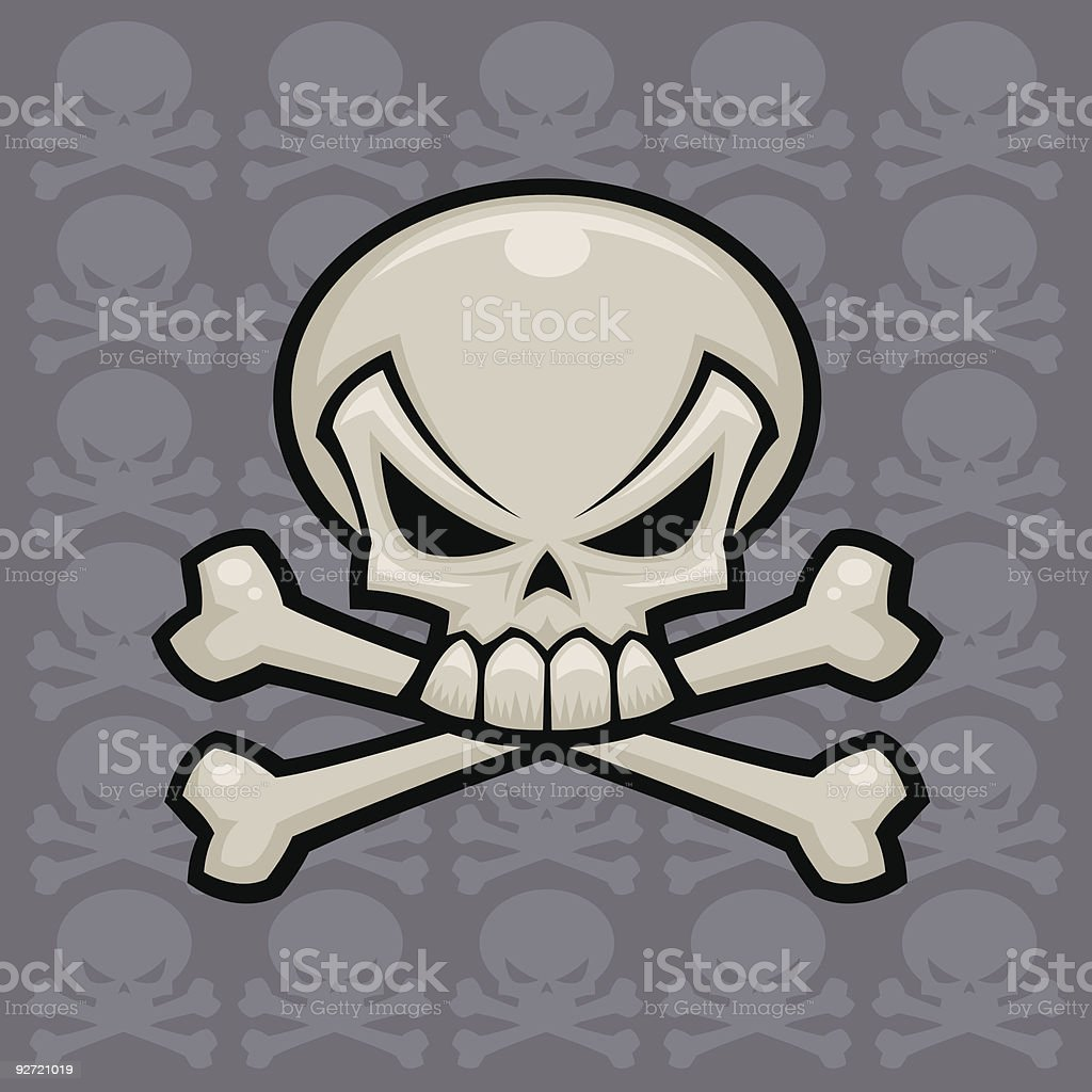 Skull and Crossbones vector art illustration