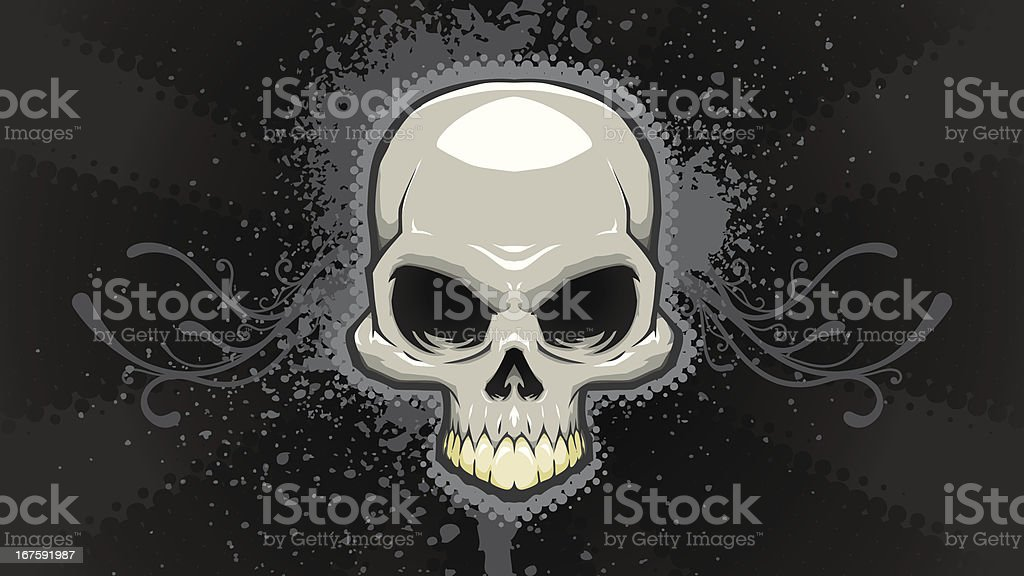 Skull Background royalty-free stock vector art