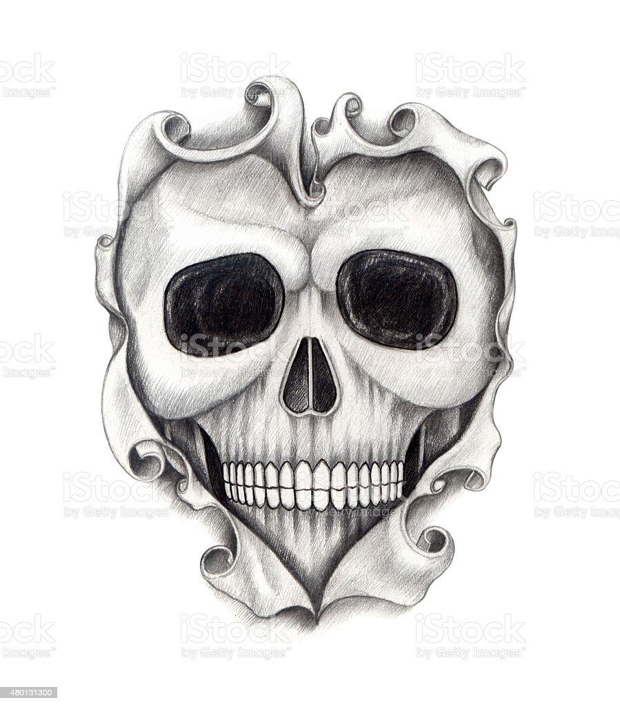 Теме, прикольные рисунки черепов на руку