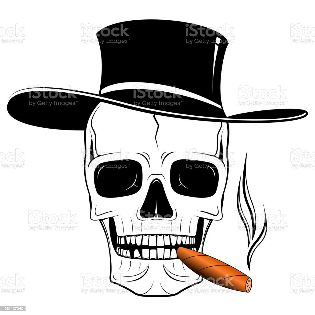 Ilustración de Ilustración Del Cráneo Sombrero y más banco de ...