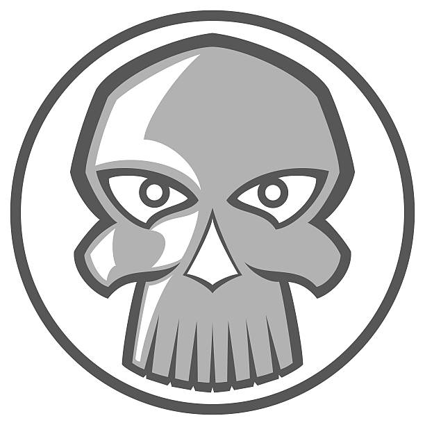 Royalty Free Poison Or Toxic Symbol Chrome Skull Clip Art Vector