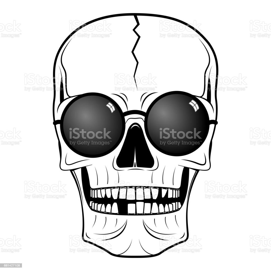 Skull illustration - sunglasses royalty-free skull illustration sunglasses stock vector art & more images of anatomy