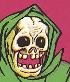Skull in Hooded Robe
