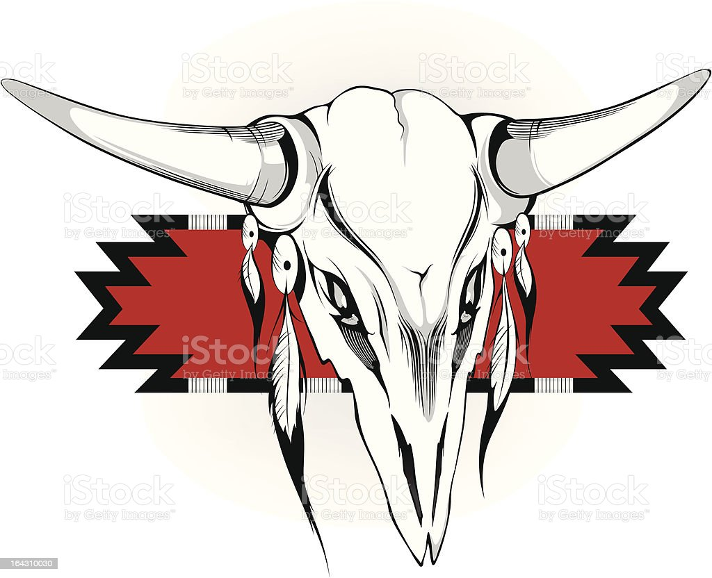 skull with horns royalty-free stock vector art
