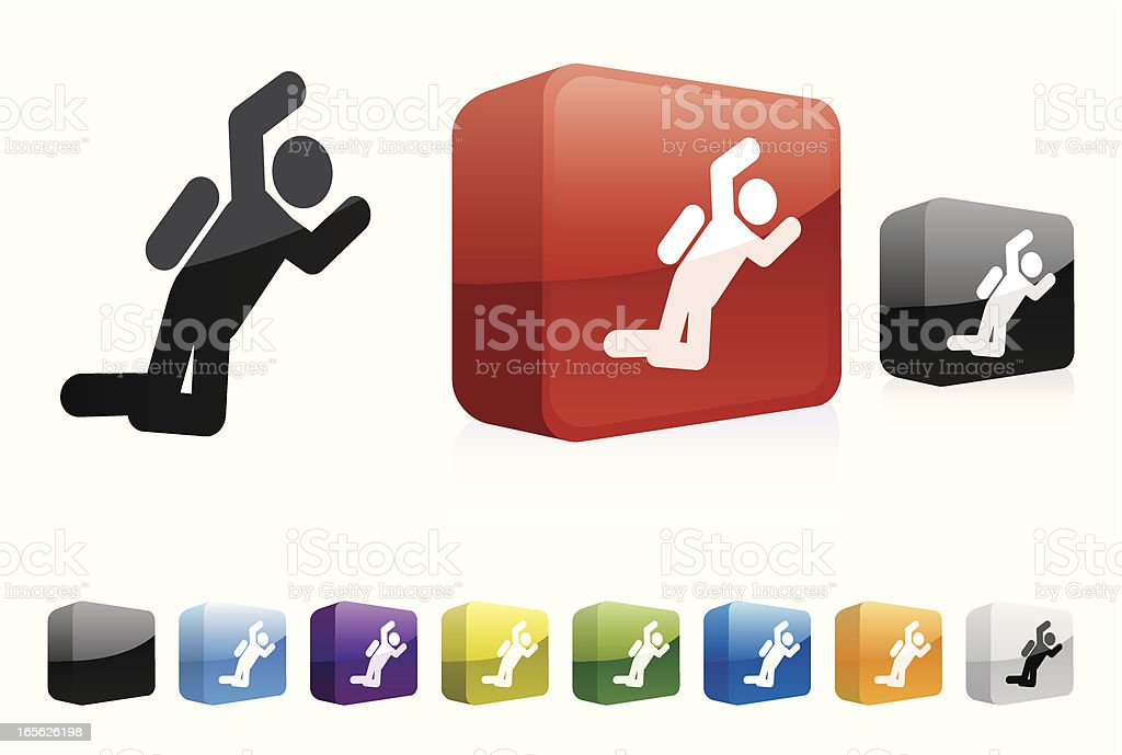 Sky Diving | Glass Collection vector art illustration