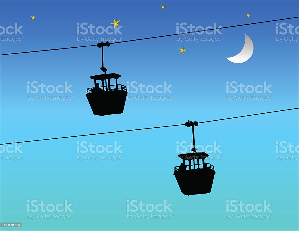 Sky Ride (Vector) royalty-free stock vector art