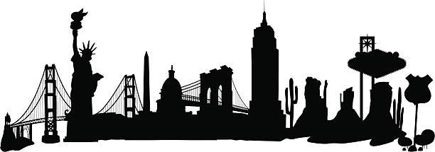 stockillustraties, clipart, cartoons en iconen met usa skyline - arizona highway signs