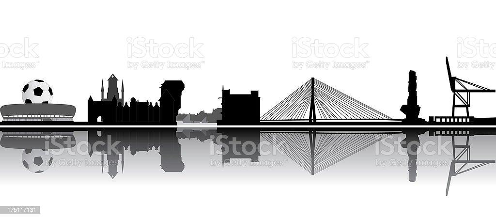 skyline vector art illustration