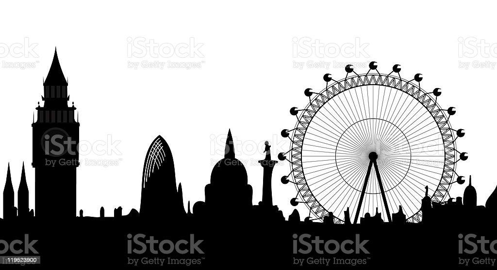 skyline London vector art illustration