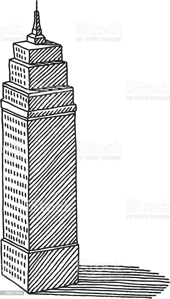 Skyscraper Drawing stock vector art 166011845 iStock