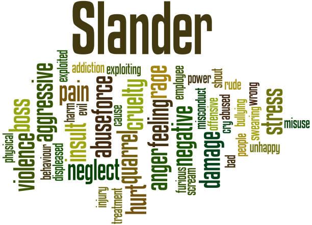 Royalty Free Slander Clip Art, Vector Images ...