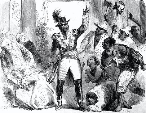 Slave rebellion in St. Domingo