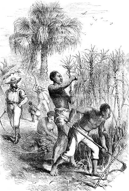 Slavery vector art illustration