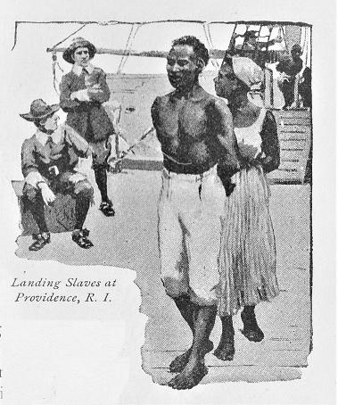 Slaves Disembark a Ship