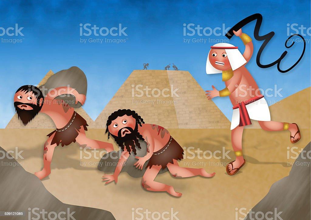Esclaves en Égypte-juive de Pâque juive Dessin animé - Illustration vectorielle
