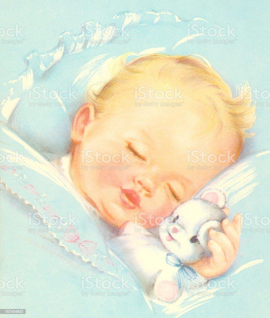 Sleeping Baby royalty-free stock vector art