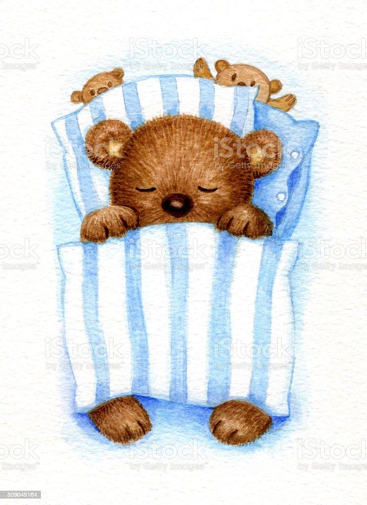 Sleeping bear. vector art illustration