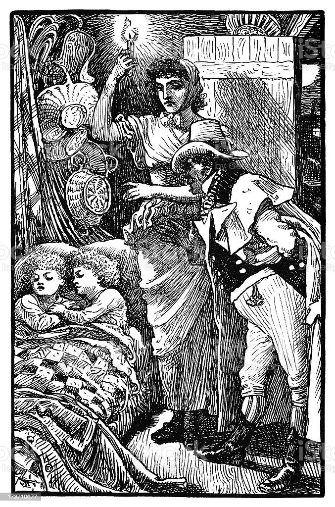 Sleeping children in a Romany caravan royalty-free sleeping children in a romany caravan stock vector art & more images of 1890-1899